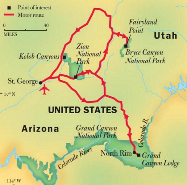 Grand Canyon Utah Map.Experience Tour Of The Grand Staircase In Virtual Reality