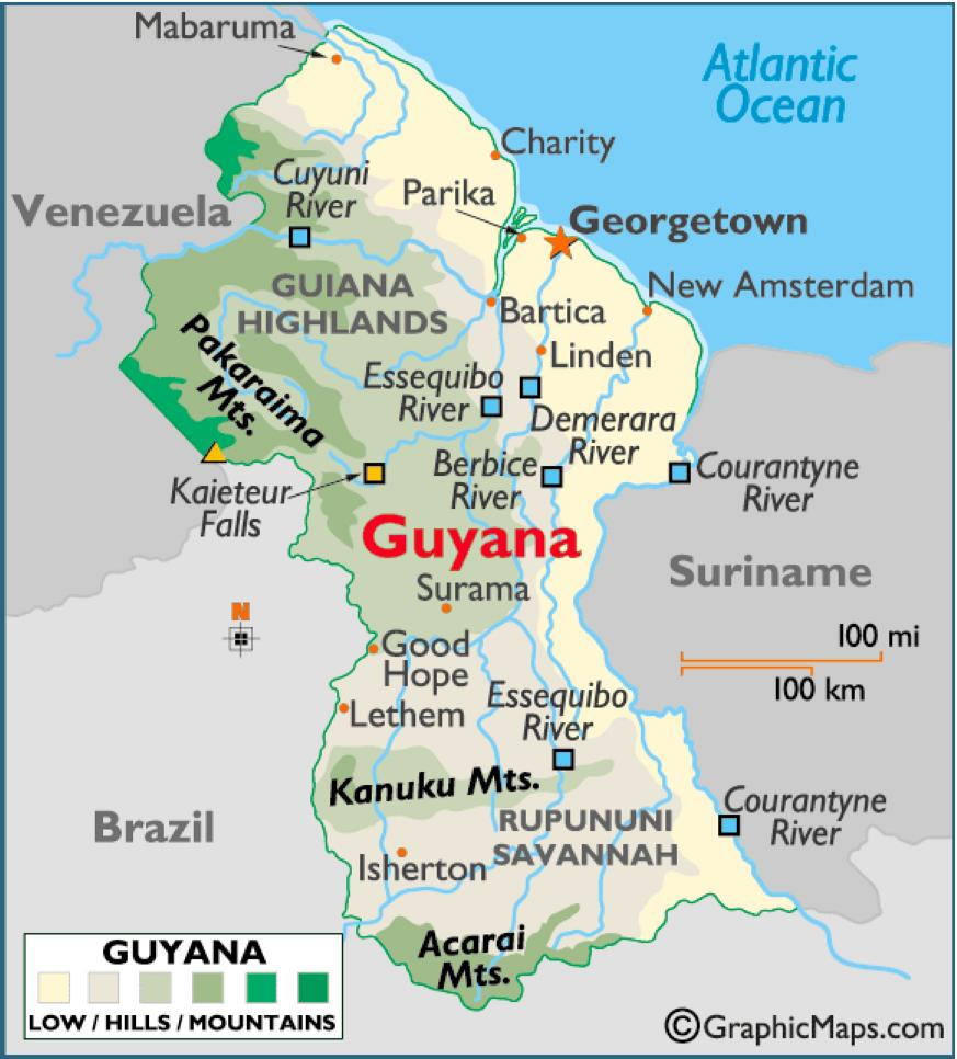 Guyana Location On World Map.Experience Guyana In Virtual Reality